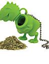 1buc silicon dinozaur formă de ceai infuzor vrac frunze de sita de silicon pe bază de plante difuzor filtru