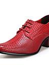 Bărbați Pantofi Piele Originală Toamnă / Iarnă Confortabili Oxfords Negru / Maro / Rosu / Party & Seară
