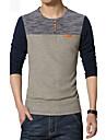 Bărbați Mărime Plus Size Tricou Sport Bloc Culoare / Peteci / Va rugăm selectați cu o mărime mai mare decât purtați. / Manșon Lung