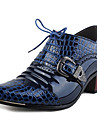 Bărbați Pantofi Piele Originală Primăvară / Toamnă Confortabili / Gladiator / Cowboy / Cizme Western Oxfords Golf Shoes Albastru / Party & Seară