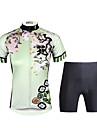 ILPALADINO Per donna Manica corta Maglia con pantaloncini da ciclismo - Nero Bicicletta Set di vestiti, Pad 3D, Asciugatura rapida, Resistente ai raggi UV, Traspirante, Strisce riflettenti Licra