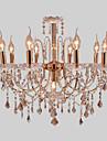 Rustic/ Cabană Modern/Contemporan Cristal Stil lumânare Candelabre Iluminare verticală Lumini Ambientale Pentru Sufragerie Dormitor