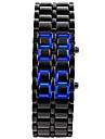 Bărbați Ceas de Mână Unic Creative ceas Ceas La Modă Piloane de Menținut Carnea Calendar LED Silicon Bandă Atârnat Negru Argint