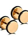 Bărbați Dame Personalizat Modă stil minimalist Teak Circle Shape Round Shape Geometric Shape Halteră Bijuterii Pentru Zilnic Casual