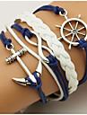 Men\'s Women\'s Wrap Bracelet Loom Bracelet Anchor Bohemian Double-layer Bracelet Jewelry Blue For Daily Casual