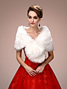 Sleeveless Faux Fur Wedding Party Evening Women\'s Wrap With Draping Capelets