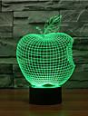 Apple Touch Dimming 3d LED Night Light 7färgad dekoration atmosfär lampa nyhet belysning ljus