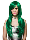 Synthetic Wig Green Women\'s Capless Capless Wig Long Synthetic Hair