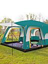 Shamocamel® -8 אנשים אוהל בקתה משפחה אוהל קמפינג חיצוני עמיד למים מאוורר היטב נשימה שכבה כפולה עמוד אוהל בקתה קמפינג אוהל >3000 mm ל מחנאות וטיולים פּוֹלִיאֶסטֶר polyster 430*305*200 cm