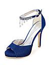Dame Sandale Primăvară Vară Toamnă Luciu Nuntă Party & Seară Toc Stiletto Sclipici Strălucitor Negru Albastru Roșu Argintiu Auriu Altele