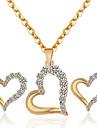 Pentru femei Set bijuterii - Ștras Inimă Modă Include Colier / cercei Auriu / Alb Pentru Petrecere / Zilnic / Casual / Σκουλαρίκια / Coliere