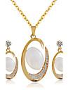 Mulheres Conjunto de joias - Incluir Sets nupcial Joias Dourado Para Casamento / Festa