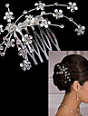 Alloy Hair Combs with 1 Wedding / Special Occasion Headpiece