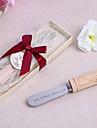 Culoarea Lemnului Favoruri practice-1 Mărturii petrecere ceai Temă Clasică Argintiu 14.4*4.4 Panglici