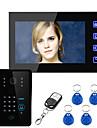 Ennio röra nyckeln 7 lcd rfid lösenord video porttelefon intercom-system wth värmekamera passersystem