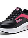 Pentru femei Pantofi Imitație de Piele Primăvară / Toamnă Adidași Plimbare Toc Platformă / Creepers Dantelă Negru / Gri