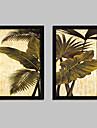 Floral/Botanic Pânză Înrămată / Set Înrămat Wall Art,PVC Negru Fără Rogojină cu Frame Wall Art