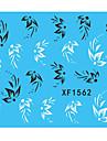 1 Vattenövergångsklistermärke Blomma Mode Dagligen Hög kvalitet