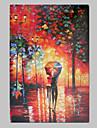 Peint à la main Abstrait / Paysage Un Panneau Toile Peinture à l'huile Hang-peint For Décoration d'intérieur