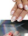 4pcs new transparent nail art foils 4cmx50cm starry sky glitter nail transfer sticker