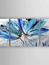 Peinture a l\'huile Hang-peint Peint a la main - A fleurs / Botanique Moderne Toile