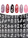 1pcs 3D Nail Stickers Nail Stamping Mall Dagligen Mode Hög kvalitet