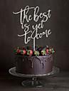 Vârfuri de Tort Nepersonalizat Monogramă Acrilic Nuntă Flori Negru Temă Clasică 1 Cutie de Cadouri