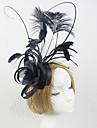 Femei Dantelă Pană Tul Material Textil Net Diadema-Nuntă Ocazie specială Exterior Cordeluțe Pălărioare 1 Bucată