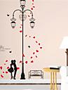Stilleben Romantik Botanisk Väggklistermärken Väggstickers Flygplan Väggstickers i 3D Dekrativa Väggstickers, Vinyl Hem-dekoration