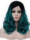 Парики из искусственных волос Зеленый Зеленый Искусственные волосы Жен. Зеленый Парик Средние Без шапочки-основы