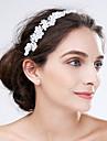 Femei Dantelă Acrilic Diadema-Nuntă Ocazie specială Flori 1 Bucată