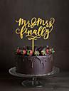 Vârfuri de Tort Temă Clasică Monogramă Teracotă Nuntă cu Flori 1 Cutie de Cadouri