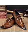 Bărbați Pantofi Piele Confortabili Oxfords Pentru Party & Seară Galben