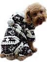 Hond Hoodies Jumpsuits Pyjama Hondenkleding Rendier Koffie Blauw Roze Corduroy Kostuum Voor Lente & Herfst Winter Heren Dames Houd Warm