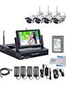 strongshine® trådlös ip-kamera med 960p / infraröd / vattentät och nvr med 7 tums LCD / 2tb övervakning hdd-kit