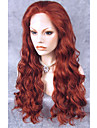 Synthetische Lace Front Peruecken Wellen Stil Spitzenfront Peruecke Rot Rotbraun Synthetische Haare Damen Rot Peruecke Lang Cosplay Peruecke