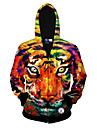 Bărbați Casul/Zilnic Simplu(ă) / Activ Regular Hoodies-Imprimeu Multi-color Manșon Lung Rotund Bumbac / Poliester Toamnă / Iarnă Mediu