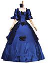 Victoriansk Kostymer i middelalderstil 18. aarhundre Kostume Dame Kjoler Party-kostyme Maskerade Ballkjole Vintage Cosplay Blonde Fest Skoleball Lang Lengde Ballkjole Store stoerrelser Tilpasset