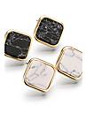 Bărbați Pentru femei Dame Cercei Stud Turcoaz European Placat Auriu Turcoaz Aliaj Square Shape Geometric Shape Bijuterii Pentru Casual
