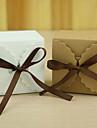 În Formă de Cub Hârtie cărți de masă Favor Holder Cu Panglici Cutii de Savoare Cutii de Cadouri