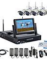 strongshine® trådlös IP-kamera med 960p infraröd vattentät och NVR med 7 tums LCD-combo kit