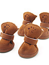 Câini Pantofi & Cizme Modă / Keep Warm Iarnă / Primăvara/toamnă Solid Maro / Roz Bumbac