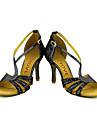 Latin / Salsa-Pantofi de dans(Negru / Roșu / Argintiu / Auriu) -Personalizabili-Damă