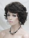 Hivision Femme Perruque Synthetique Boucle Chatain Perruque Naturelle Perruque Halloween Perruque de carnaval Perruque Deguisement