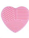 1 pcs brosse oeuf et nettoyants Silicone Heart Shape