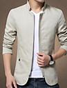 Bărbați Stand Zvelt Mărime Plus Size Jachetă Zilnic / Muncă / Sfârșit de săptămână Mată / Manșon Lung