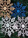 decorations de noel 4pcs de poudre de flocon de neige de noel 10 * 6.5cm couleur aleatoire