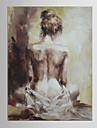 Hang målad oljemålning HANDMÅLAD - Abstrakt Europeisk Stil Moderna Duk
