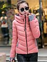 Femei Palton Femei Simplu(ă) Căptușit Manșon Lung Bumbac