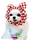 Chat Chien Bandanas & Chapeaux Vetements pour Chien Leopard Cafe Rouge Rose Polaire Costume Pour les animaux domestiques Homme Femme